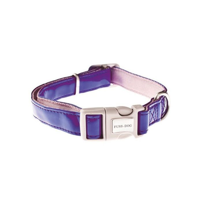 collar-ajustable-piel-sintetica-fuss-dog-azul