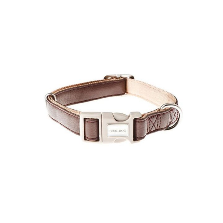 collar-ajustable-piel-sintetica-fuss-dog-marron