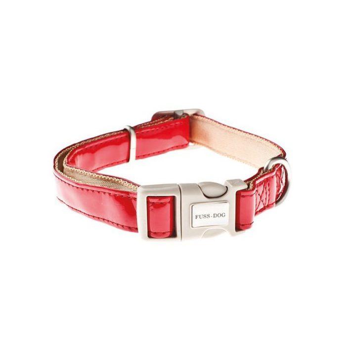collar-ajustable-piel-sintetica-fuss-dog-rojo