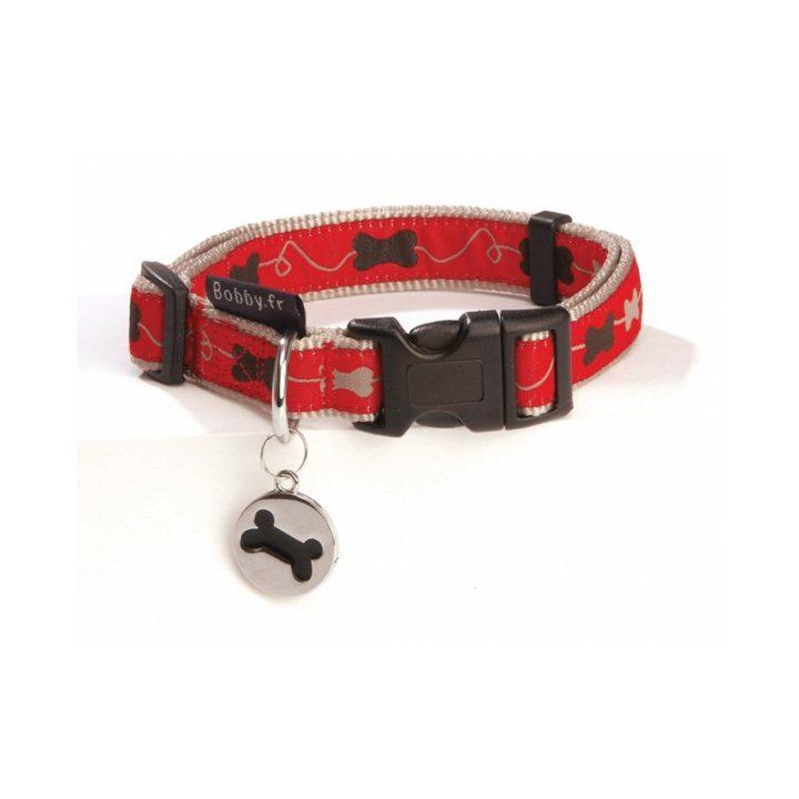 bobby-collar-kyrielle-nylon-rojo